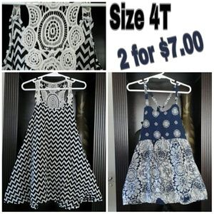 Other - 2 adorable 4T summer dresses
